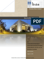 Internship Report Ibrahim Fibres Limited