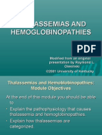 Thalassemias and Hemoglobinopathies