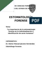 Importancia de estomatologia forense en la identificacion de restos humanos