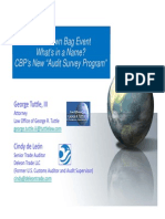 CBP New Audit Survey Program