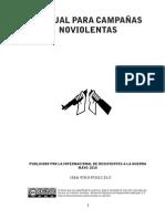 Manual Para Campañass No Violentas Internacional de Resistentes a La Guerra