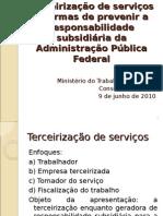 Terceirizacao de Servicos e Responsabilidade Subsidiaria- Formas de Prevencao