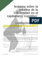 Reflexiones sobre la reforma de la Universidad en el capitalismo cognitivo.