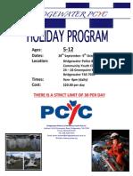 Bridgewater PCYC Sep-Oct School Holiday Program
