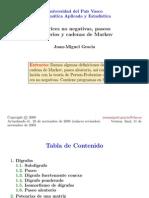 Matrices No Negativas, Paseos Aleatorios y Cadenas de Markov.