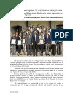 17.12.2014 Esteban Reconoce Apoyo de Empresarios Para Jóvenes