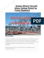 How to Solve Short Circuit Calculation Using Point to Point Method
