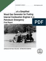 FEMA Woodgas Engine Manual
