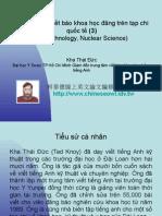 Vietnam 2.44:Tổ chức lớp viết báo khoa học đăng trên tạp chí quốc tế (3)