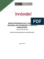 Bases Integradas II Concurso Fotografia Click a La Innovacion