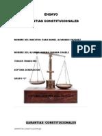 Ensayo Garantias Constitucionales