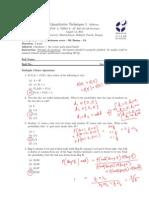 QT1 IIM Indore midterm paper