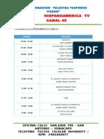 Programacion CANAL 45 2