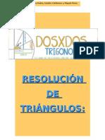 RESOLUCIÓN DE TRIÁNGULOS