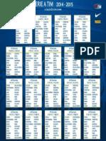 Calendario Serie a TIM 2014-2015