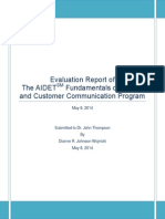 Final Evaluation Report of AIDET