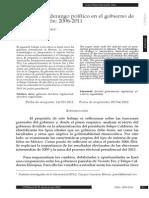 Consenso y liderazgo político en el gobierno de Felipe Calderón