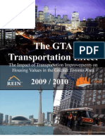 Impact of Transportation Infrastructure on Greater Toronto Region Real Estate Markets