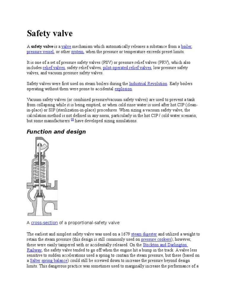 Safety Valve | Pressure Cooking | Gases