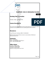 Intro to Information Security - F2015