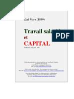 Marx-Travail Et Capital