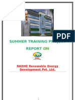 Report on Radhe Renewable Energy Development by Nildip Parekh