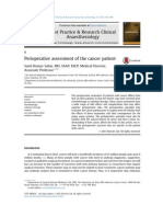 Perioperative Assessment of the Cancer Patient