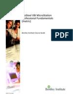 8.- ProSteel V8i MicroStation Professional Fundamentals Metric TRN017720-1-0002