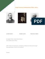 Pioneros de La Psicología Francesa Contemporánea