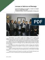 24.11.2014 Empresa Coreana Se Interesa en Durango