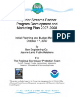 Superior Streams Partner Program Development and Marketing Plan 2007-2008 (306-09-08)