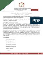 SISTEMA DE COSTEO BASADO EN ACTIVIDADES
