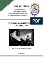 modulo de tecnicas de entrevista y observación en psicologia