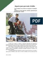 30.11.2014 Cultura y Deporte Para Prevenir El Delito