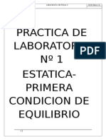 ESTATICA-PRIMERA CONDICION DE EQUILIBRIO