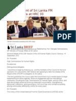 Full Statement of Sri Lanka FM Samaraweera at HRC 30