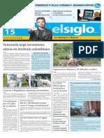 Edicion Impresa Elsiglo 15-09-2015