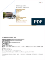 1. Postgrados Informacion Especialización Gestion Gerencial