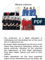 Uniforms of Flight Attendants