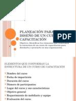 3 Planeación Para El Diseño de Un Curso de Capacitación