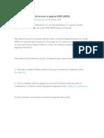Corregir Problema de Acceso a Página IDSE