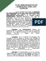 Contrato de Arrend. de Alberto LAracón Melo