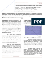 Design of Triple-S Shaped Microstrip Patch Antenna for Dual Band Applications