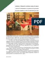09.10.2014 Mujeres Periodistas y Marisol, En Lucha Contra El Cáncer