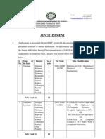 Notification Jammu Kashmir Energy Development Agency Foreman Computer Jr Asst Other Posts