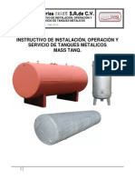 Instructivo de Operacion Para Tanques Metalicos