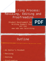 Revising, Editing and Proofreading - Presentation