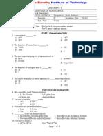 Nano Assesment-1 Question Paper[1]
