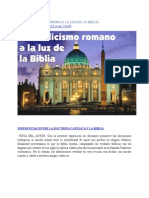El Catolicismo Romano a La Luz de La Biblia Cpomparaciones