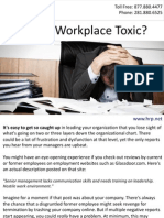 Is Your Workplace Toxic?